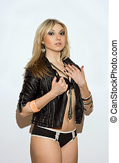 Alluring young blond girl