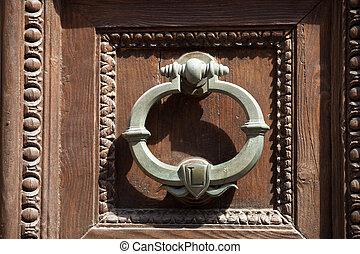 allwood, doorknocker, tür