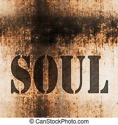 alma, palavra, música, abstratos