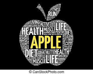 alma, szó, felhő