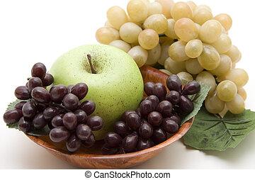 alma, szőlő, bor