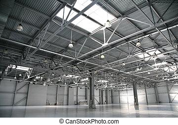 almacén, hangar