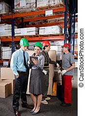 almacén, supervisores, capataces