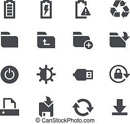 //, almacenamiento, energía, apps, interfac