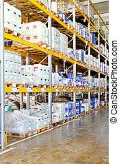 almacenamiento químico, estante