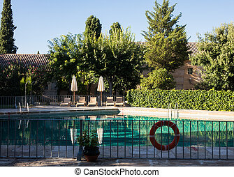 Almagro in Castilla-La Mancha, Spain - Swimming pool in...