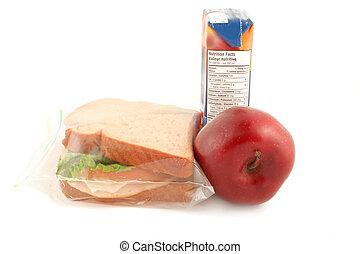 almoço, escola