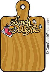 almoço, menu