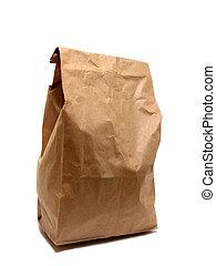 almoço, saco papel