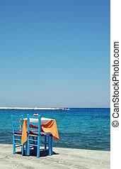 almoço,  -,  Samos, Grécia