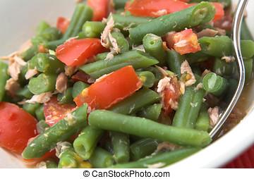 almoço saudável, salada