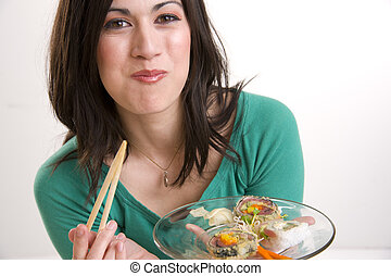 almoço, sushi