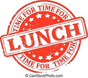 almoço, tempo