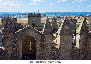 fotification of of Almodovar del Rio castle, Cordoba, Spain