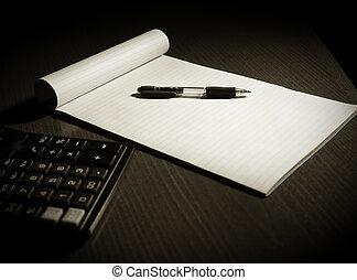 almofada, escrita