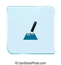 almofada nota, ícone