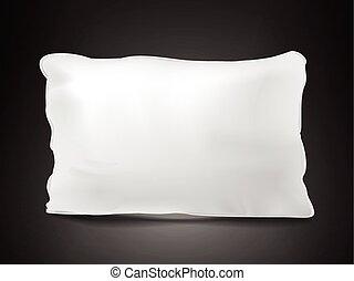 almohada, mirar para arriba, cierre, blanco