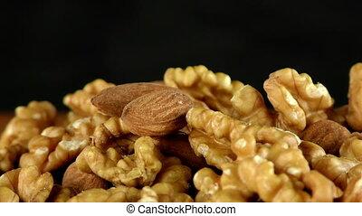 Almond and Walnut Macro View