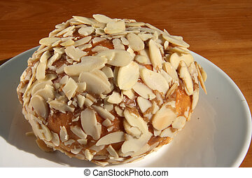 Almond flake bun - Sweed dessert pastry bun covered with...
