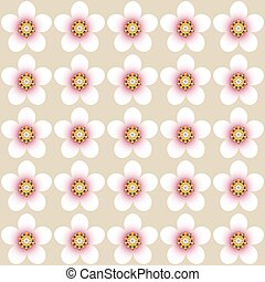 Almond flower blossom pattern - Almond flower blossom vector...