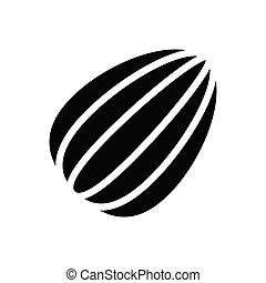 almond  glyph flat icon