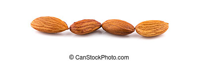 Almond / Nuts isolated on white background