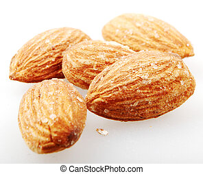 Almond Nuts Isolated On White