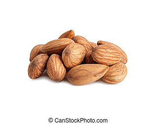 almond pile isolated on white background