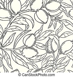 almond seamless pattern