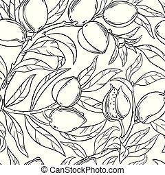 almond seamless pattern