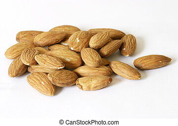 Almonds - almonds isolated on a white background.