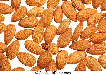 Almonds background - Almond nuts background