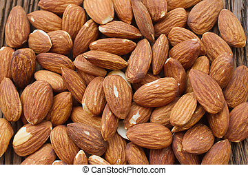 Almonds background