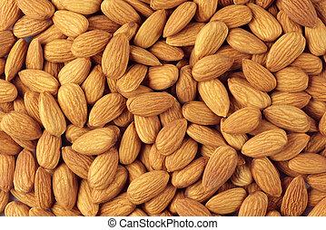 Almonds close-up