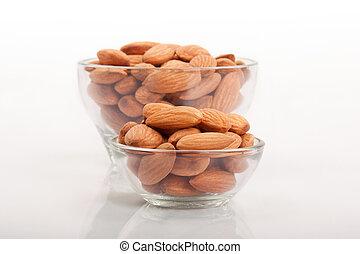 Almonds glass bowl