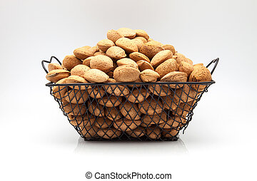 almonds harvested