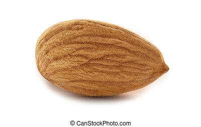 Almonds nut isolated on white background