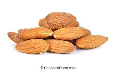 almonds nuts isolated on white background