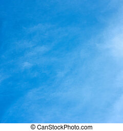 Almost cloudless blue sky,  may be used as background
