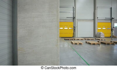 Almost empty interior of the storehouse