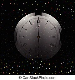 Almost Midnight - A Christmas and New Year clock showing...