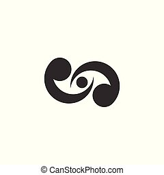 Alms logo vector graphic design. - people logo isolated on ...