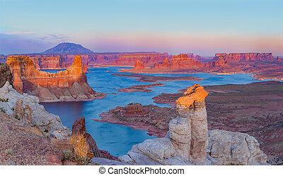 Almstron point sunset near Page city, USA
