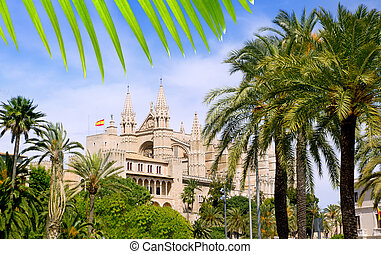 Almudaina and Cathedral of Palma de Mallorca in Majorca