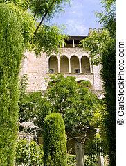 Almudaina castle in Palma de Majorca Balearic islands from...