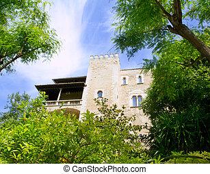 Almudaina palace in Palma de Mallorca from Majorca
