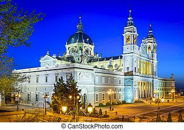 almudena, catedral, de, madrid, españa