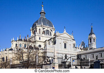 almudena, catedral, en, madrid