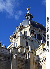 Almudena Cathedral - catholic church in Madrid, Spain....