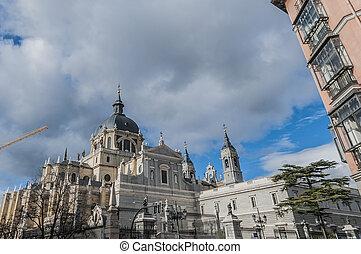 Almudena cathedral in Madrid, Spain. - Santa Maria la Real...